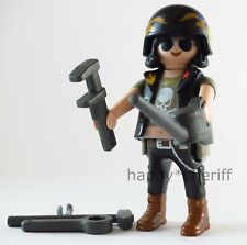 Playmobil Motorcycle Rider Biker Mechanic w/ Tools Mystery Series 13 9332 NEW