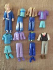 Polly Pocket Boy Male Lot Set Suit Outfits Clothes w/ Matching Shoes M38