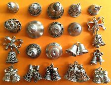 Various vintage sterling silver charms WEDDING BELLS