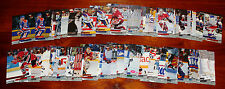 1993-94 Fleer Ultra Hockey Cards. 1-4 cards for $1.00; $0.25 per card after 4