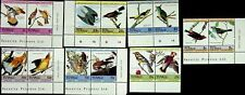 TUVALU BIRDS 1c TO $1 7 VALUES MNH SETENANT PAIRS