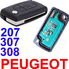 3 Buttons Remote Alarm Flip Key Fob 433MHz ID46 Chip For PEUGEOT 207 307 CC 308