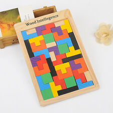 Top sell Wooden Tangram Puzzle Toys Magination Intellectual Educational Kid Toy