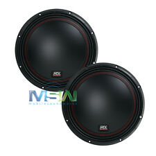 "(2) MTX 5512-22 12"" 55-Series DUAL 2-OHM CAR AUDIO STEREO SUB SUBWOOFERS *PAIR*"