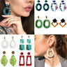 New Fashion Bohemian Acrylic Acetate Leopard Circle Hoop Earrings Women Jewelry