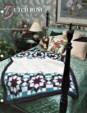 Dutch Rose Annie's Attic Crochet Afghan Pattern Leaflet