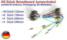 65 Stück Jumper Kabel, Pinkabel männlich nach männlich für Arduino Raspberry Pi