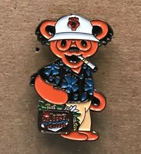 Grateful Dead Hunter S. Thompson Blue Shirt Lapel Pin. Hat Pin. High Quality!