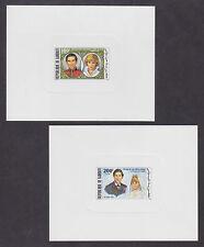 Djibouti Sc 529-530 1981 Charles & Diana Royal Wedding Sunken Die Proofs