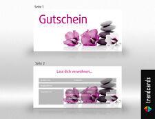 50 Gutscheinkarten Geschenkgutschein Gutscheine Wellness, Massage, Kosmetik