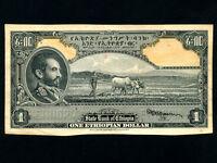 Ethiopia:P-12,1 Dollar * Haile Selassie * 1945 * PROOF *
