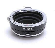 Canon EOS Lens PC Adapter For M4/3 Olympus E-PL3 E-PM3 Panasonic G3 GH2 GF2 GF3