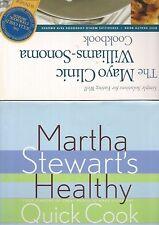 2 Healthy Cooking Recipes Cookbooks Martha Stewart & Mayo Clinic Williams Sonoma