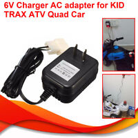 6V Wall Charger AC Adapter For Battery Powered Kid TRAX ATV Quad Ride On Car New