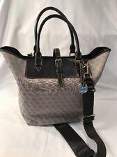 EUC Dooney & Bourke Handbag Tote Brown Tan Top Buckle Closure Inside Pockets