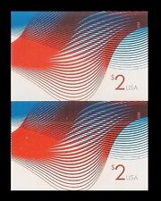 US 4954a Two Dollar Patriotic Wave $2 imperf NDC vert pair MNH 2015