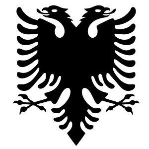 2 x Albanian Flag Eagle. Car, Laptop Vinyl Sticker, Decal. Free Recorded Postage