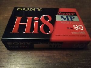 SONY Hi8 SUPER MP90 X1 VIDEO CASSETTES METAL PARTICLE BRAND NEW AND SEALED