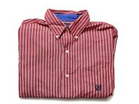 Chaps by Ralph Lauren Mens Shirt Size S Long Sleeve Button Up Red White Striped