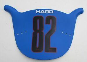HARO COLOR PANEL BLUE NUMBER PLATE VINTAGE OLD SCHOOL BMX STADIUM RARE SURVIVOR