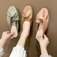 Fashion Womens Round Toe Casual Slippers Faux Leather Flat Slide Beach Sandals