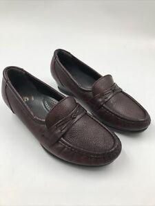 Tripad Sas Comfort Maroon Heeled Loafers  Foot Bed Made In U.S.A.