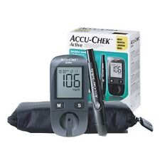 Accu Chek Active Diabetes Monitor with 10 Test Strips Gluco Meter Free Track