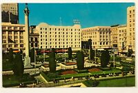 Hotel Plaza San Francisco California Postcard CA Opposite Union Square 1940s 50s