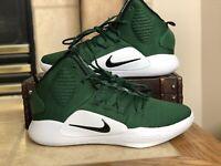 $130 Nike Hyperdunk X TB Green White Basketball Shoes AR0467-300 Mens Sz 11 Size