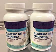 2x BETEL NATURAL CLORURO DE MAGNESIO MAGNESIUM CHLORIDEN 90 CAPS EXP 12/23