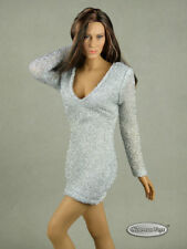 1/6 Scale Phicen, Hot Toys & NT Sexy Female Silver Glitter Mini Party Dress