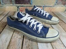 USA Vintage CONVERSE All Star Chucks Blue Canvas Lace Up Sneakers Men's 8