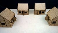 Cottage x4 set terrain warhammer AOS 28mm wargames wargaming building sigmar
