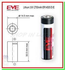 Batteria Pila EVE 14505 14500 3,6V Li-SoCl2 STILO AA 2700mAh STD Allarme Scanner