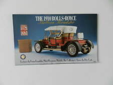 Franklin Mint 1910 ROLLS ROYCE Ballon Roadster Brochure Pamphlet Mailer