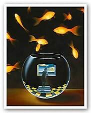 FANTASY ART PRINT Life In A Wish Bowl Samy Charnine 7x9