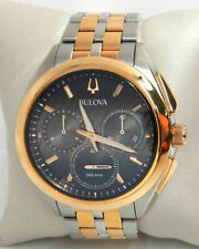 BULOVA CURV CHRONOGRAPH MEN'S WATCH 98A160 $850.00
