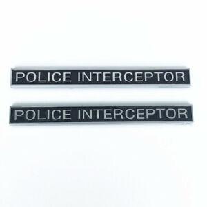 Fits Police Interceptor Badge Emblem Decal Ford Crown Vic Victoria Universal 3M