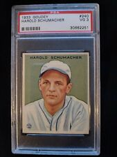 1933 Goudey Harold Schumacher #240 PSA 3 VG. Check out my other listings!