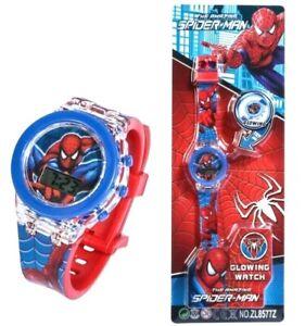 CHILDREN Spiderman-Frozen-Paw Patrol 7 Colour Glow Flashing Digital Watch 2021