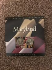 """US Mint Quarter Dollar """"Maryland"""" Number 7 Of 50"""