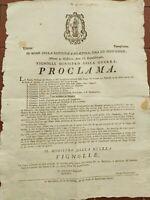 1797 253) BANDO APERTURA DELLA SCUOLA MILITARE DEL GENIO E ARTIGLIERIA A MODENA