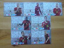 EURO 2020 LIMITED SET 7 CARD BELGIUM AIDERWEIRELD,TIELEMANS,LUKAKU,HAZARD..