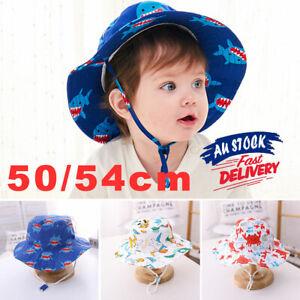 100% Cotton Kids Boy Girl Bucket Reversible Hat UPF 50 Adjustable Sun Cap Unisex