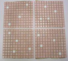 4 Sq Ft Vtg MCM Pink Mosaic Kitchen Bathroom Tile NOS Floor Backsplash Wall