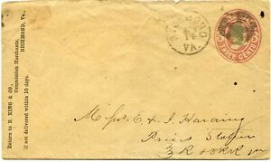 Richmond, Va. ca. 1868 star in circle on U59 stationery