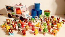 Lot of The Uggly's Pet Shop Rubber Toy Figures Animals + Bus Truck