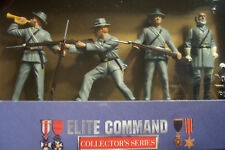 Elite Command ROBERT E LEE & CONFEDERATE ARMY Diecast 54mm 4pcs BLUE BOX MIB