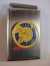PAP LOYAL ORDER of MOOSE POLISHED SATIN CHROME MONEY CLIP NEW