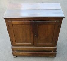 More details for 1700's dutch 2 door small oak cupboard with drawer at base